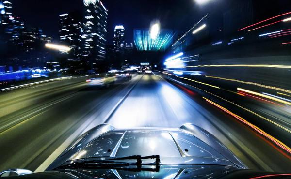 Foto coche noche Gopro