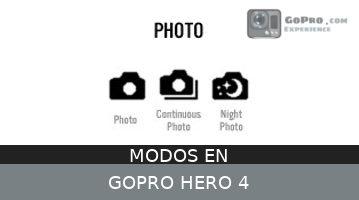 Modos en GoPro Hero4 – La mejor configuración